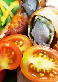長芋と大葉の豚肉巻きのスタミナ焼き