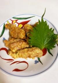 マグロ漬け汁の天ぷら