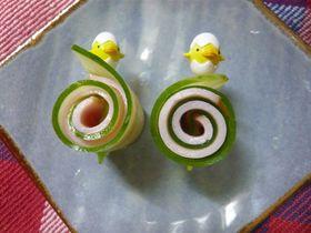 ☆お弁当に♪きゅうり&ハムくるくる☆