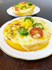 色鮮やか♡ズッキーニピザの写真