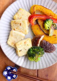 豆腐と野菜のひまわりオイルソテー