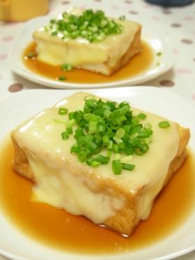 2分で1品@チンするだけの厚揚げチーズ