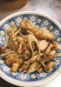 鶏モモ肉のネギポン酢マヨ炒め