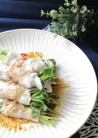 豆苗の豚肉巻き☆韓国風タレ