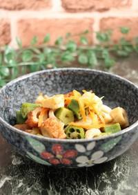 レンジで簡単!オクラと竹輪の煮物