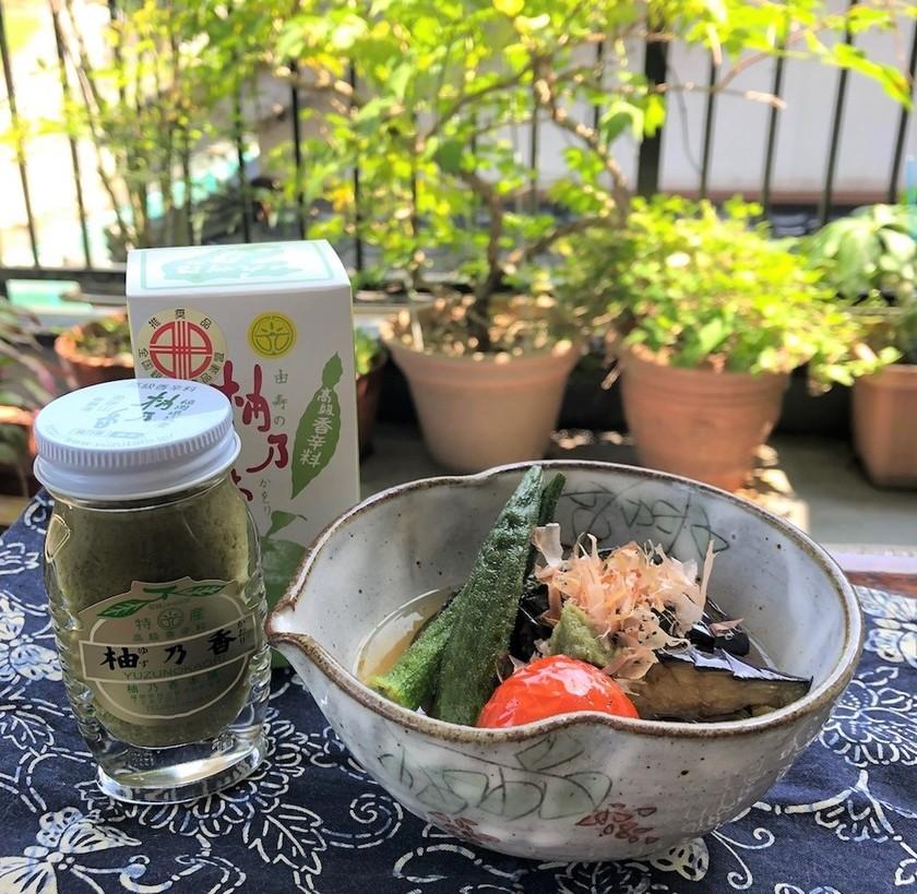 夏野菜のひんやり柚子胡椒煮びたし
