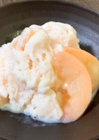 材料3つで簡単!桃のフローズンヨーグルト