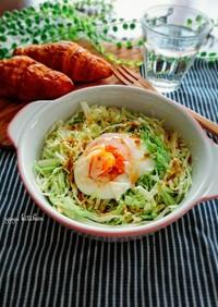 レンジで簡単☆焼肉のタレで巣ごもり卵。