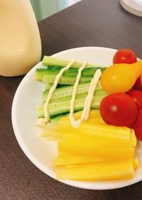シンプルな野菜スティック
