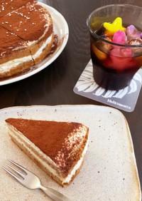 糖質オフのスポンジケーキでティラミス