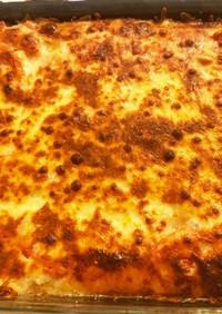 トマト、じゃがいも、玉ねぎのチーズ焼き
