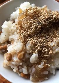 納豆と生姜の甘煮のご飯