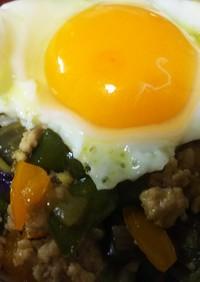 簡単美味・白だし+野菜たっぷりのガバオ飯