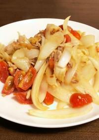 玉ねぎとミニトマトの洋風野菜炒め