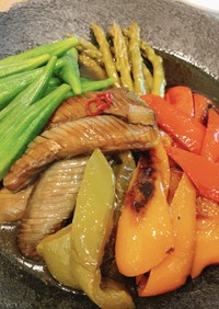 夏野菜の焼き浸し-素麺の具にもぴったり