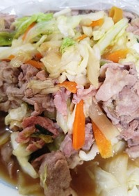 豚肉と野菜のハチミツ生姜ポン酢炒め
