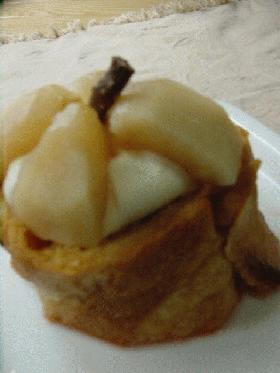 フランスパンで作る☆りんごのサバラン