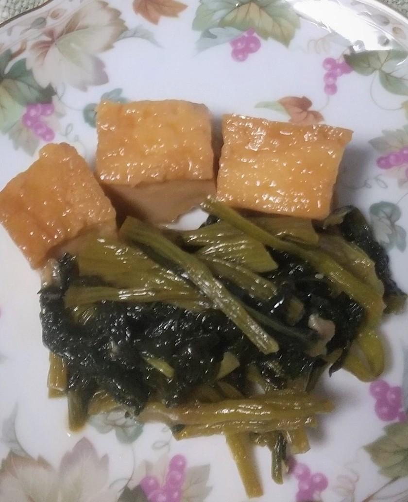 おふくろの味・厚揚げと小松菜の炒め煮