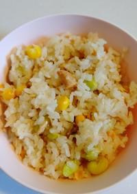 鮭の和風炊き込みご飯(離乳食完了期)