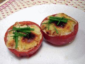 お手軽焼きトマト