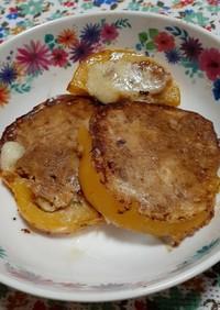 パプリカの肉詰め粉チーズ焼き。