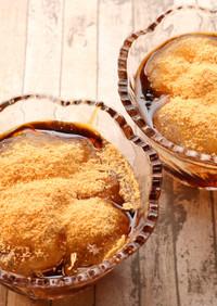 【レンジで簡単おやつ】片栗粉でわらび餅