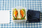 具だくさんサンドイッチべんとうの写真