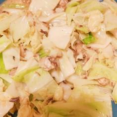 簡単一品 サバとキャベツの味噌炒め