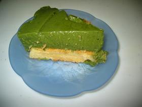 抹茶風ヨーグルトケーキ