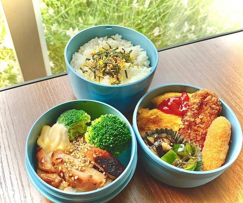 タロの弁当①(自家製漬け物と塩麹どり)