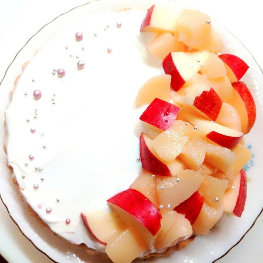りんごと白桃のタルト