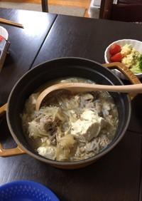 下味冷凍で肉豆腐