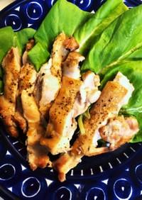 魚焼グリルで簡単鶏もも肉の塩焼き