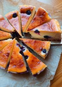 ブルーベリーのベイクドチーズケーキ♪