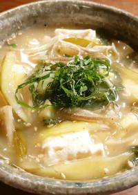 谷中生姜、青唐辛子、発酵胡瓜の冷や汁