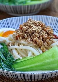 冷やしde豆乳坦々麺(うどん、素麺)