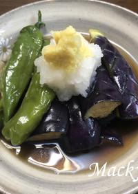 麺つゆで簡単 ナスとシシトウの揚げ浸し