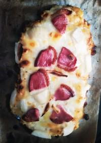 フライパンと魚焼きグリル(片面)でピザ