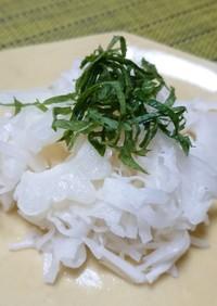 白ゴーヤとホタテ缶の大根サラダ