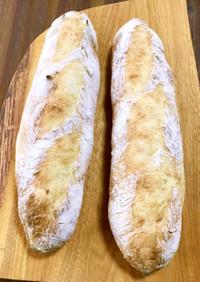 捏ねて寝かせた生地deフランスパン