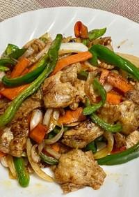 豚バラ肉といろいろ野菜の甜麺醤炒め