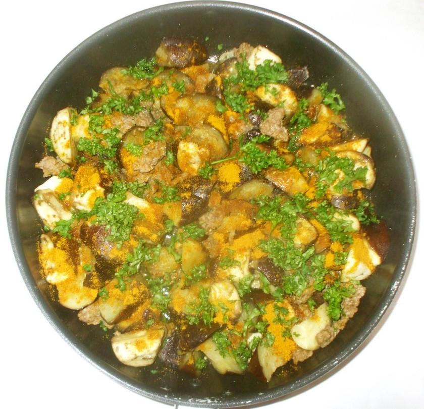 茄子ひき肉のカレー炒め♪簡単