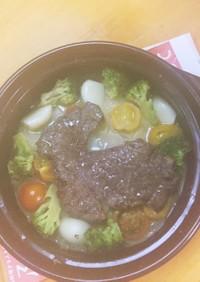 温野菜とやわらか牛。簡単に プチ贅沢?
