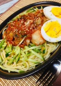 韓国冷麺風パスタ