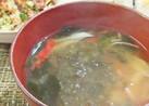 オッサンのカニカマ味噌汁