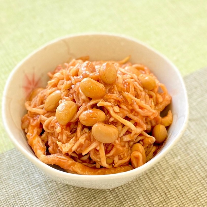 切干大根の豆トマト漬け