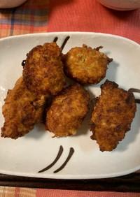 レンコンと鶏ひき肉の揚げ団子