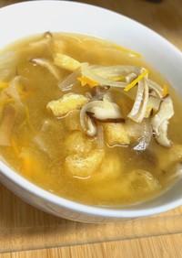 旨味!椎茸と玉ねぎと人参のお味噌汁