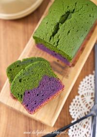 紫芋と抹茶パウンドケーキ