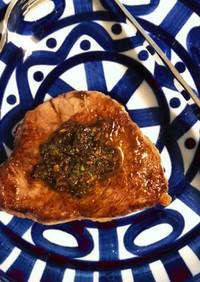 ランプ肉のステーキ☆山椒ソース